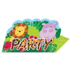 Zaproszenia urodzinowe Party w Dżungli - 8 szt.