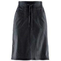 Spódnica lniana ze ściągaczem bonprix czarny