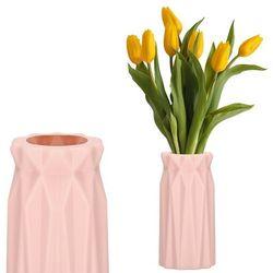 Wazon 18cm nietłukący na kwiaty do salonu, kuchni różowy nowoczesny