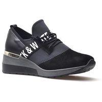 Damskie obuwie sportowe, Sneakersy CheBello 2358-034-141-PSK-S68 Czarne+Szary