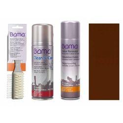 Zestaw do czyszczenia i pielęgnacji skóry zamsz nubuk bama 3w1 brązowy