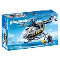 Klocki dla dzieci, Playmobil ® City Action Helikopter SEK 9363 - czarny