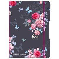 Notesy, Notatnik Notes A6 My.Book Flex PP z gumką HERLITZ - Ladylike Flowers