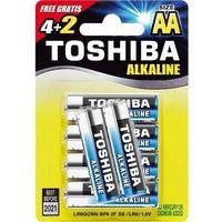 Baterie, Baterie alkaliczne Toshiba LR6GCNP BP6 2F (4+2szt)- natychmiastowa wysyłka, ponad 4000 punktów odbioru!