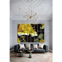 Kontrastowa abstrakcja - ogromny obraz wielkoformatowy 200x150cm na dużą przestrzeń rabat 40%