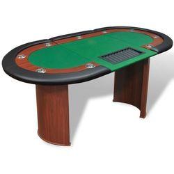 vidaXL Stół do pokera dla 10 graczy z tacą na żetony, zielony Darmowa wysyłka i zwroty