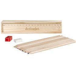 Piórnik drewniany z grawerem Activejet Activejet (jasne drewno)