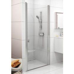Ravak Chrome drzwi prysznicowe CSD1-80, wys. 195 cm, Satyna+Transparent 0QV40U00Z1