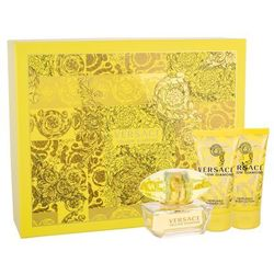 Versace Yellow Diamond zestaw Edt 50ml + 50ml Balsam + 50ml Żel pod prysznic dla kobiet