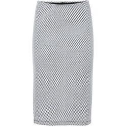 Elastyczna spódnica ołówkowa żakardowa bonprix biel wełny