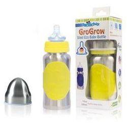 Butelka dla niemowląt Pacific Baby GroGrow EKO 300ml Żółta