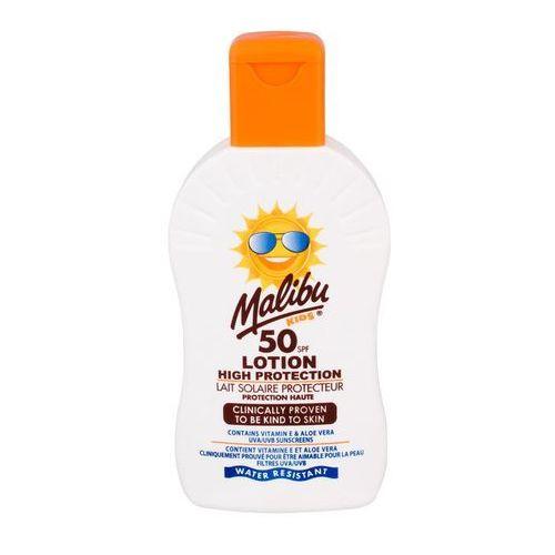 Kosmetyki z filtrem dla dzieci, Malibu Kids Lotion SPF50 preparat do opalania ciała 200 ml