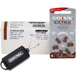 60 x baterie do aparatów słuchowych Rayovac Extra Advanced 312 MF + zasobnik na baterie Rayovac