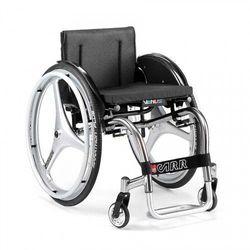 Wózek aktywny, lekki, składany na sztywnej ramie, z szybkozłączami. Tytanowy Offcar Venus