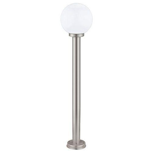 Lampy ogrodowe, Lampa stojąca Eglo Nisia 30207 zewnętrzna 1x60W E27 100cm IP44 satyna