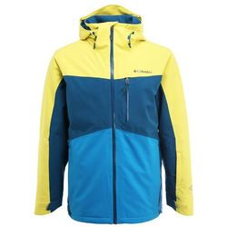 Columbia WILD CARD Kurtka narciarska acid yellow/phoenix blue
