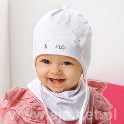Komplet ajs 42-013 czapka+chustka rozmiar: 40-42cm, kolor: wielokolorowy, ajs