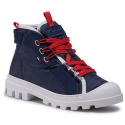 Trapery TOMMY JEANS - Lace Up Cleated Boot EN0EN00933 Twilight Navy C87