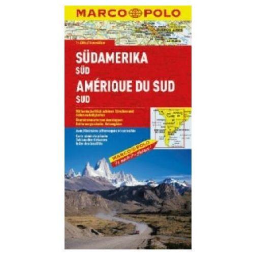 Mapy i atlasy turystyczne, Ameryka Południowa, część południowa 1:4 000 000. Mapa samochodowa, składana. Marco Polo (opr. miękka)