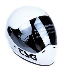kask TSG - pass solid color (+ bonus visor) satin white (208) rozmiar: L