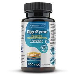 DigeZyme Kompleks multienzymatyczny z naturalnym prebiotykiem 150mg 60 kapsułek PharmoVit