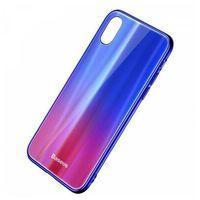 Etui i futerały do telefonów, Etui ochronne Baseus Laser Luster Case WIAPIPHX-XC39 do iPhone X do iPhone XS kolor purpurowy- natychmiastowa wysyłka, ponad 4000 punktów odbioru!