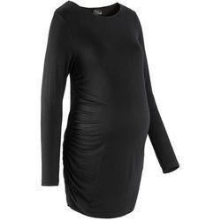 Długi shirt ciążowy bonprix czarny