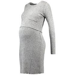 MAMALICIOUS MLNEVADA JUNE DRESS Sukienka dzianinowa medium grey melange