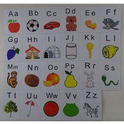 Alafabet obrazkowy karty edukacyjne wersja w j. angielskim