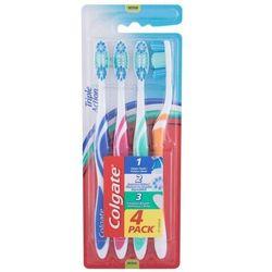 Colgate Triple Action Medium szczoteczka do zębów 4 szt unisex
