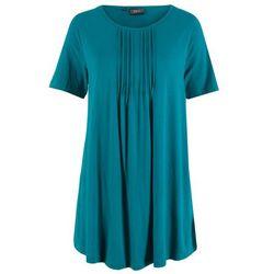 T-shirt + bermudy (2 części) bonprix naturalny melanż - ciemnoniebieski