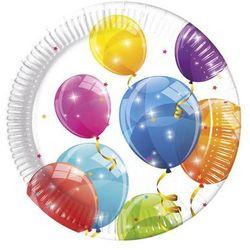 Talerzyki urodzinowe Błyszczące Baloniki - 23 cm - 8 szt.