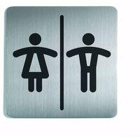 Oznakowanie informacyjne i ostrzegawcze, Oznaczenie toalet metalowe kwadratowe - WC DAMSKO-MĘSKI