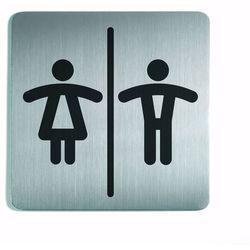 Oznaczenie toalet metalowe kwadratowe - WC DAMSKO-MĘSKI