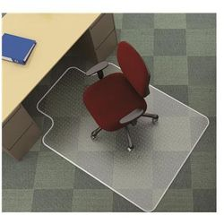 Mata pod krzesło Q-CONNECT, na dywany, 134x115cm, kształt T
