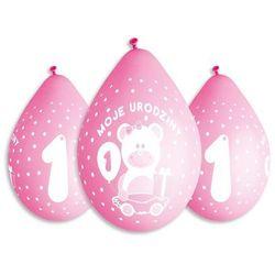 Balony z nadrukiem dla dziewczynki Moje urodziny - 30 cm - 5 szt.