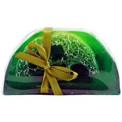 Mydło Glicerynowe z gąbką Loofah - Zielona Herbata - 140g - marki Lavea