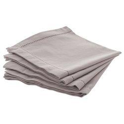 Serwetki bawełniane CHAMBRAY - kolor szary, 4 szt, 40 x 40 cm