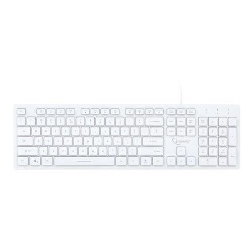 Klawiatury do komputerów, Klawiatura multimedialna Gembird KB-UML3-01-W (biała)