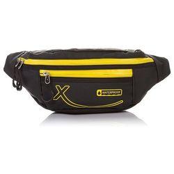 Sportowa saszetka / nerka na pas wodoodporna (żółty) - czarny   żółty