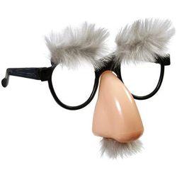 Okulary z nosem siwe