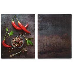 Szklane płyty kuchenne, 2 sztuki, deska do krojenia, odporna na temperatury, serwowanie potraw, zabezpieczenie kuchenek