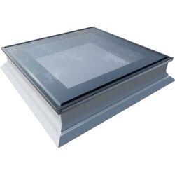 Okno do dachów płaskich OKPOL PGX B1 PVC 120x120 nieotwierane 3-szybowe