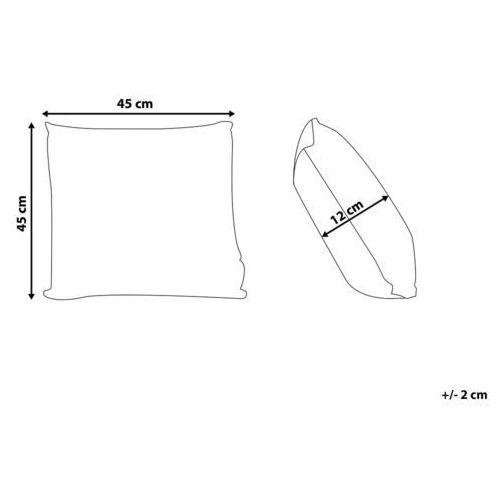 Poduszki, Poduszka dekoracyjna koronka z frędzlami beżowa 45 x 45 cm