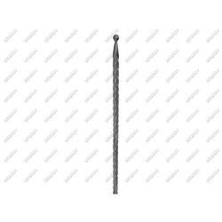 Szpic z kulką h500, b15, zdobený 12x12mm