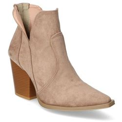 Botki For-But 070 Taupe zamsz
