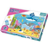 Puzzle, Puzzle Baby 15 elementów Maxi - Podwodny świat - DARMOWA DOSTAWA OD 199 ZŁ!!!