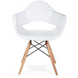 Fotel GULAR DSW biały - polipropylen, podstawa bukowa