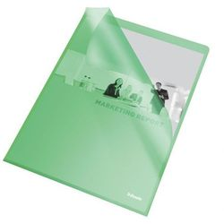 Ofertówka groszkowa L Esselte 60835 A4/25szt.,115mic. zielona