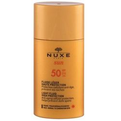 NUXE Sun Light Fluid SPF50 preparat do opalania twarzy 50 ml tester dla kobiet